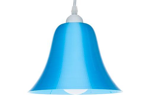 3D-gedruckte Lampen LampBell Blau Silk