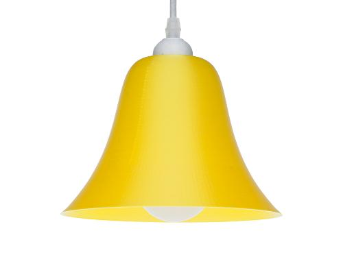 3D-gedruckte Lampen LampBell Gelb Silk