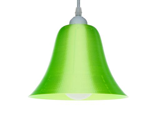 3D-gedruckte Lampen LampBell Grün Silk