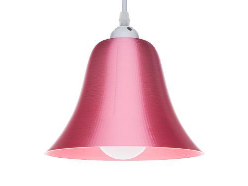 3D-gedruckte Lampen LampBell Rot Silk