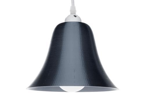 3D-gedruckte Lampen LampBell Schwarz Silk