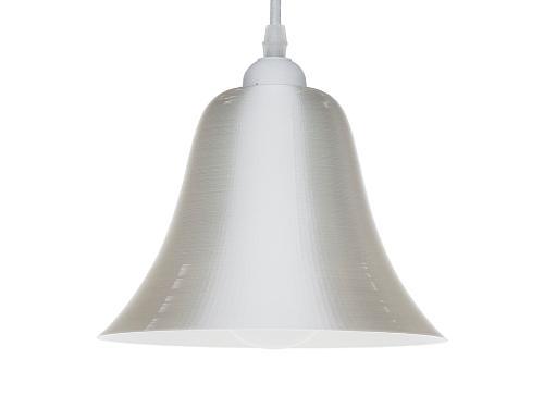 3D-gedruckte Lampen LampBell Weiss Silk
