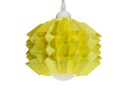 3D-gedruckte Lampen Neo Origami Light Gelb Silk