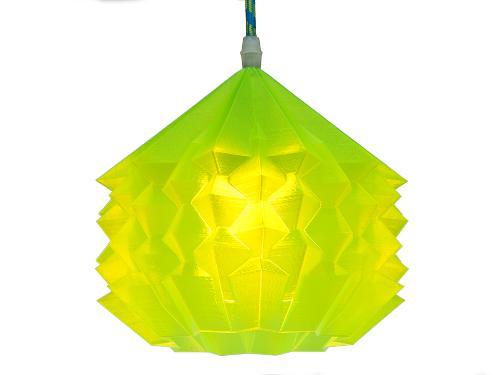 3D-gedruckte Lampen Neo Origami Light Gelb Transparent