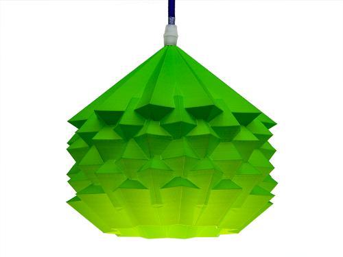 3D-gedruckte Lampen Neo Origami Light Hellgrün