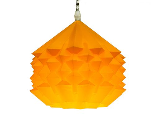 3D-gedruckte Lampen Neo Origami Light Orange