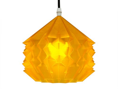 3D-gedruckte Lampen Neo Origami Light Orange Transparent