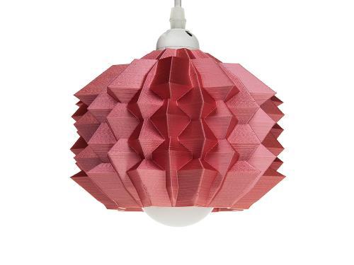 3D-gedruckte Lampen Neo Origami Light Rot Silk