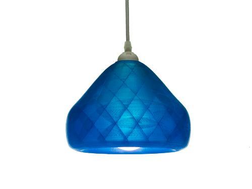 3D-gedruckte Lampen Schlumpf Octet Blau