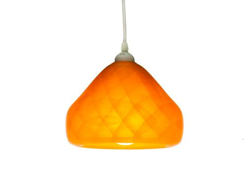 3D-gedruckte Lampen Schlumpf Octet Orange
