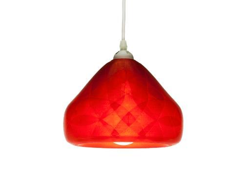 3D-gedruckte Lampen Schlumpf Octet Rot