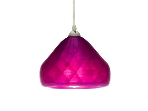 3D-gedruckte Lampen Schlumpf Octet Violett