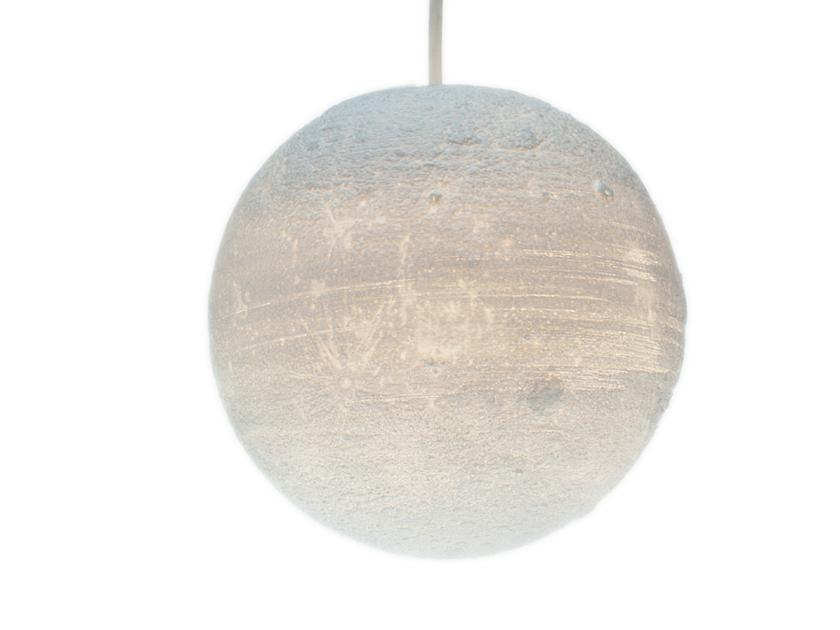 3D-gedruckte Lampen Süd Mond 28cm