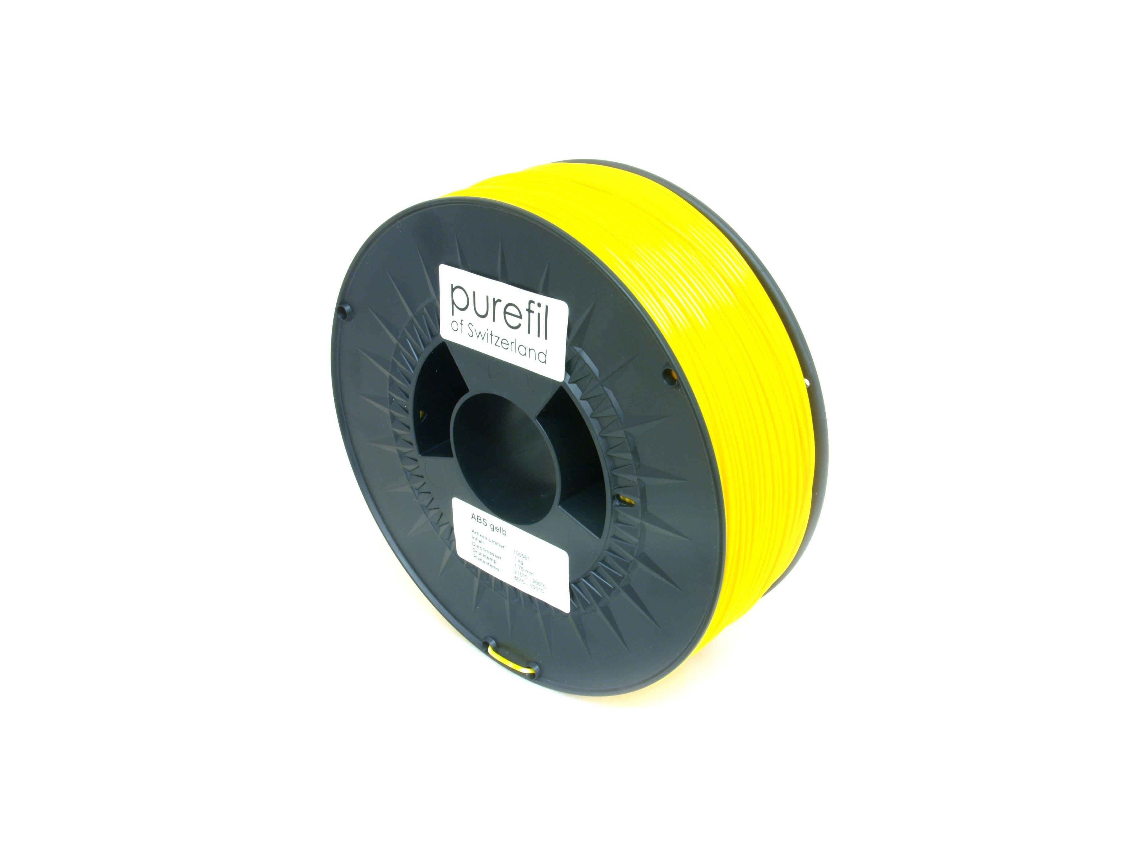 ABS Filament Purefil ABS Gelb 1Kg 1.75mm