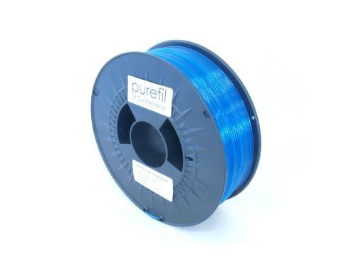 PETG Filament Purefil PETG Blau Transparent 1Kg 1.75mm