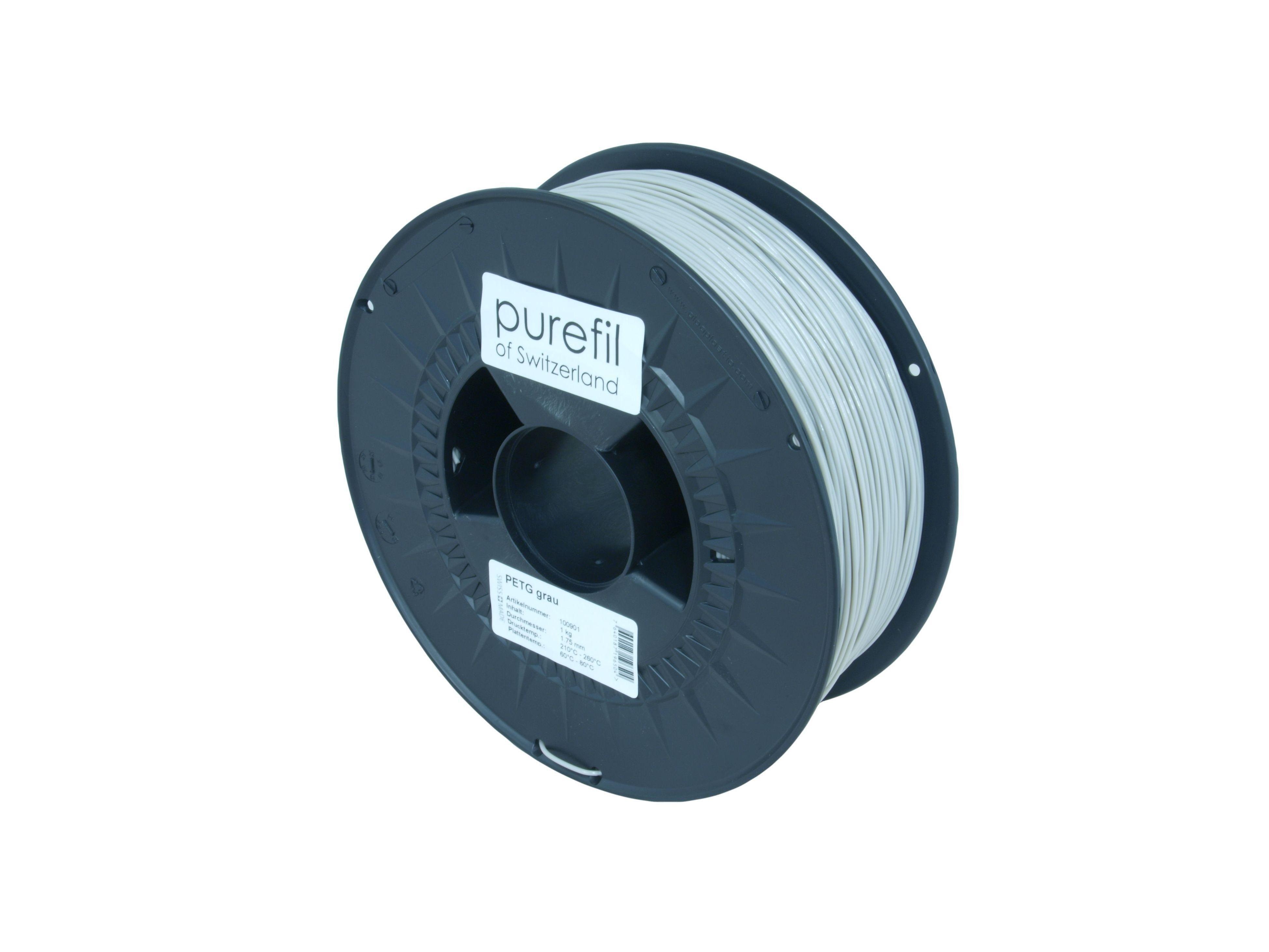 PETG Filament Purefil PETG Grau 1Kg 1.75mm