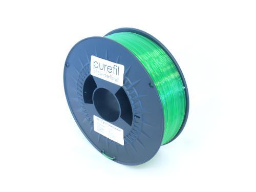PETG Filament Purefil PETG Grün Transparent 1Kg 1.75mm