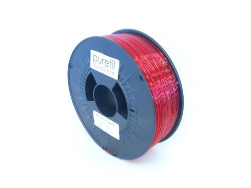 PETG Filament Purefil PETG Rot Transparent 1Kg 1.75mm