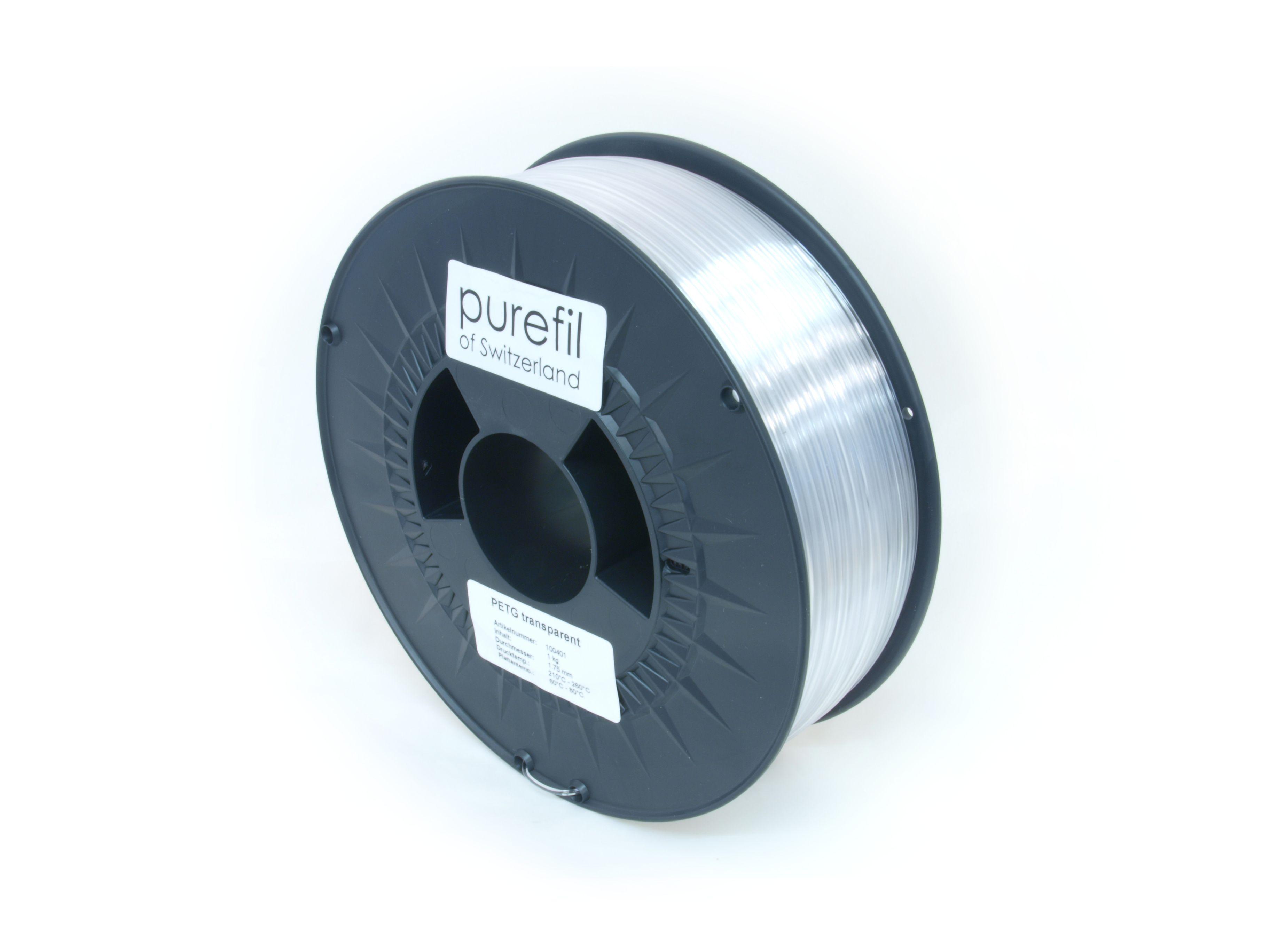PETG Filament Purefil PETG Transparent 1Kg 1.75mm