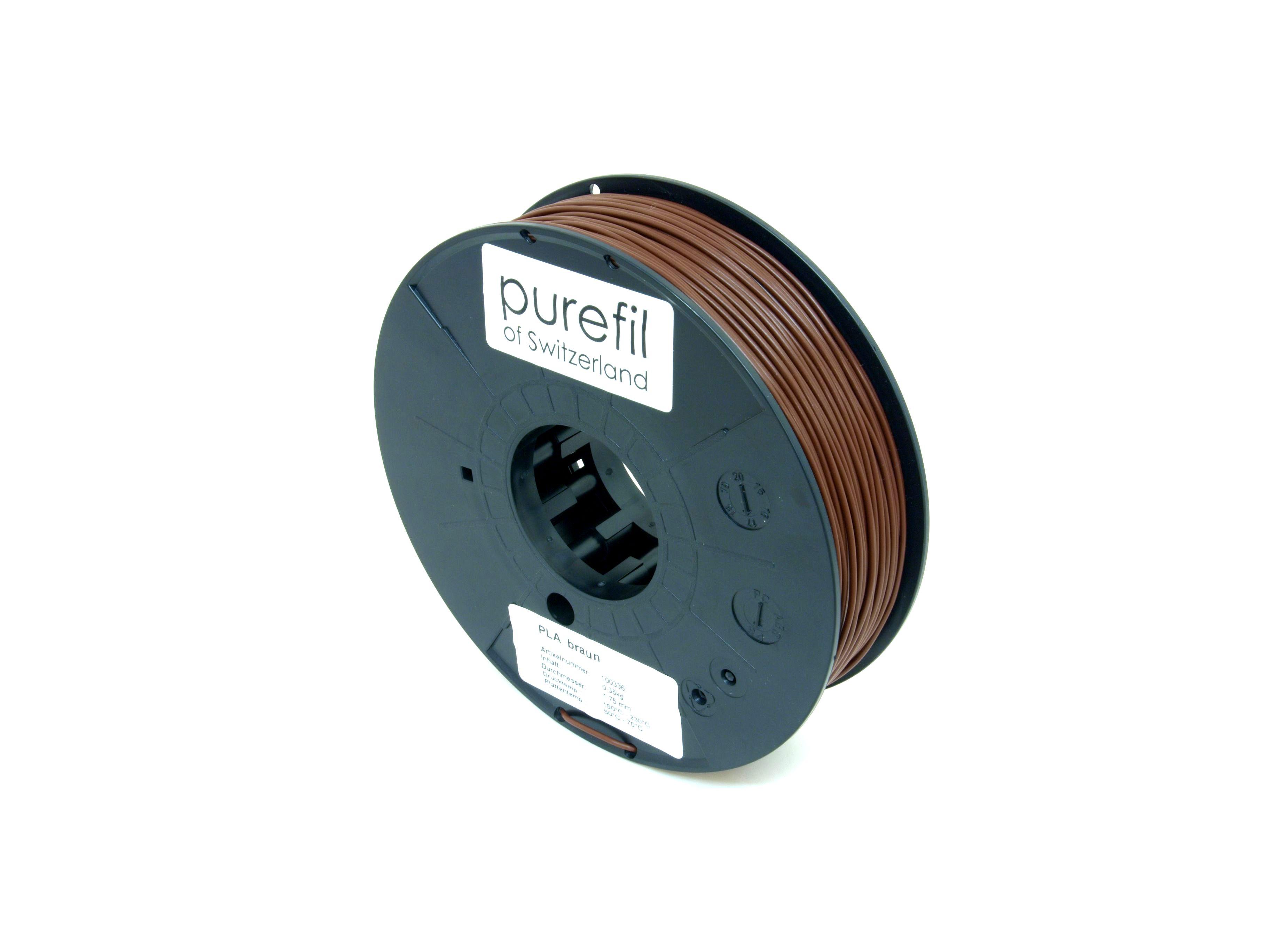 PLA Filament Purefil PLA Braun 0.35Kg 1.75mm