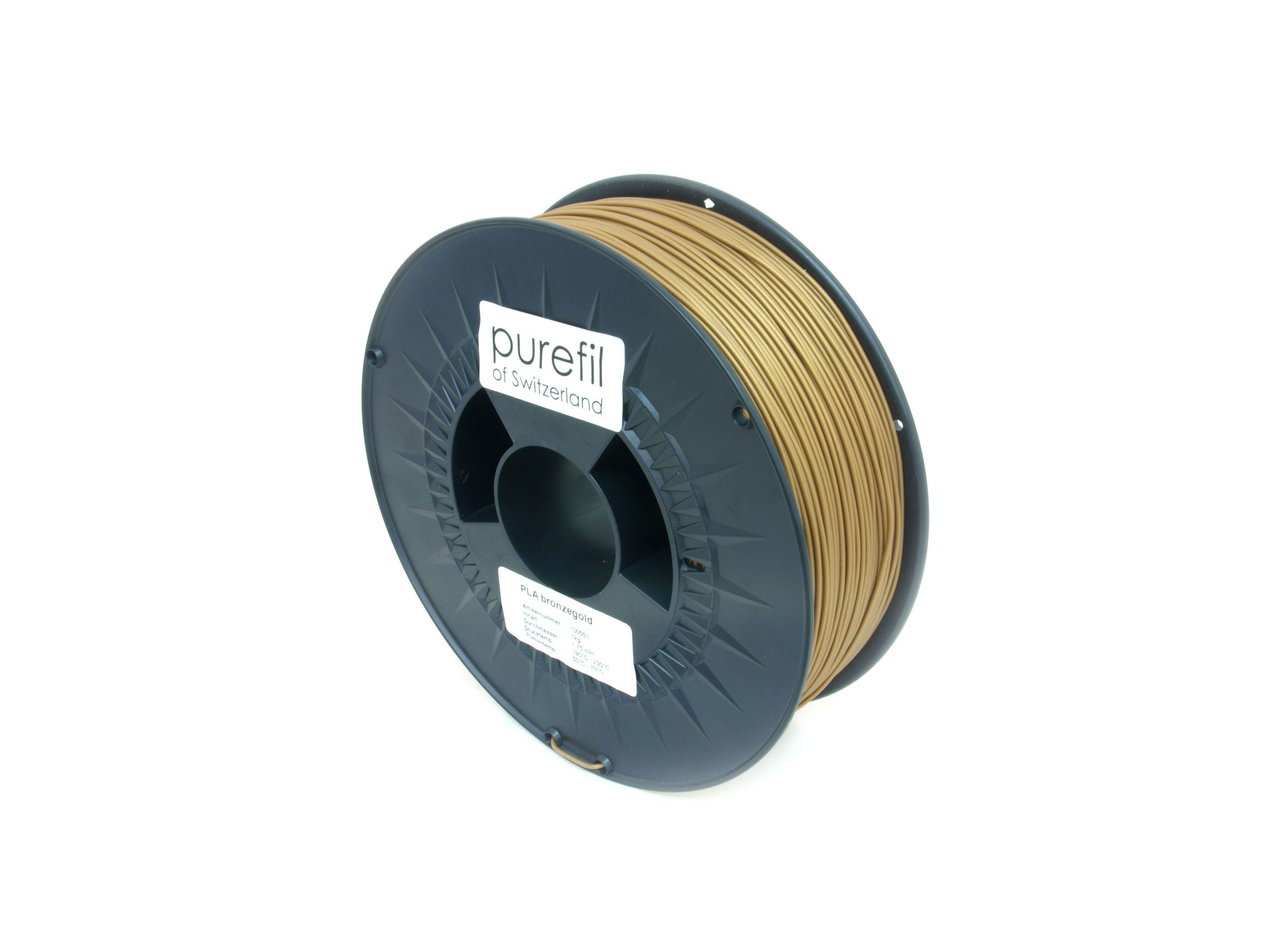 PLA Filament Purefil PLA Bronzegold 1Kg 1.75mm