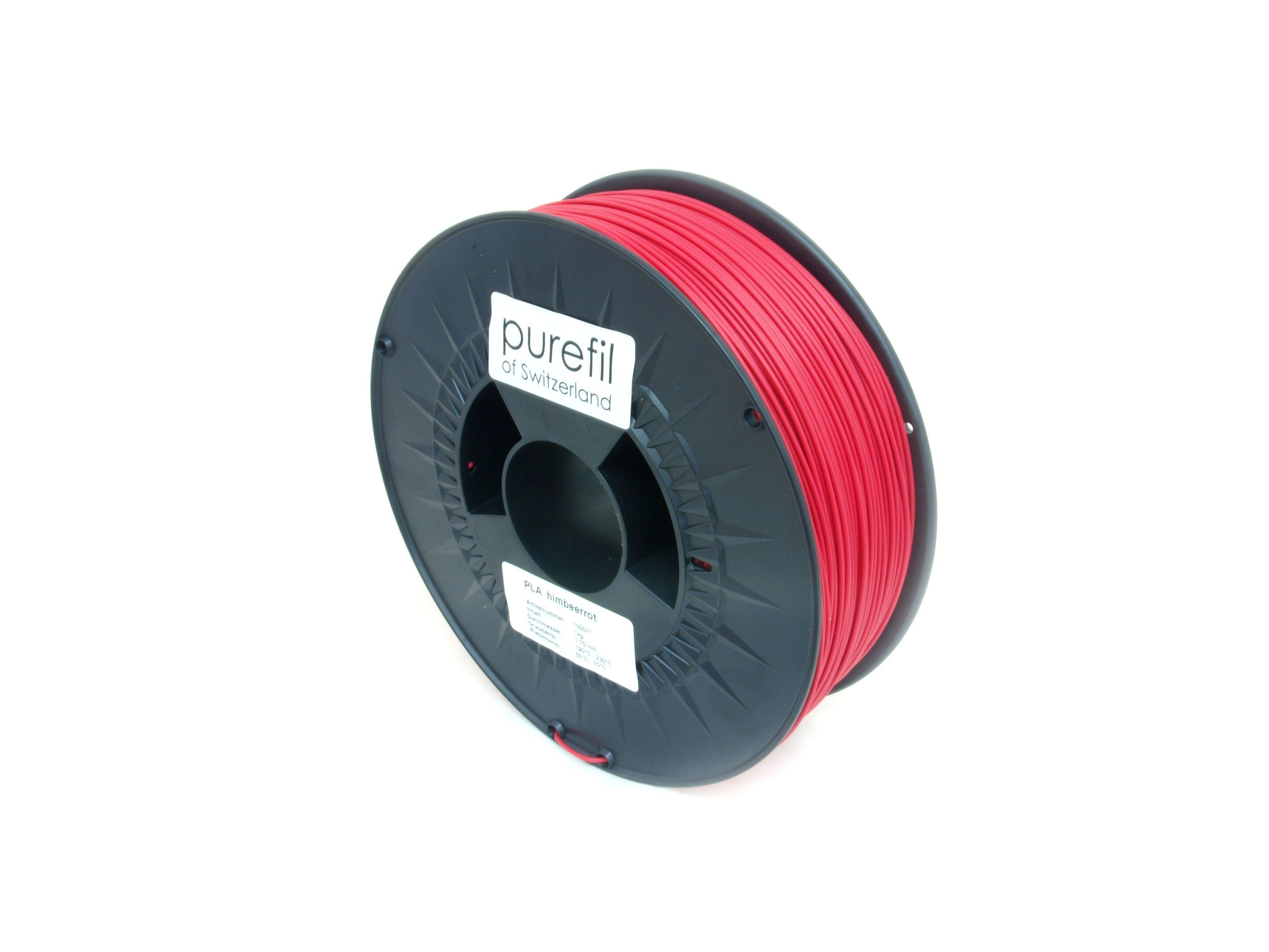 PLA Filament Purefil PLA Himbeerrot 1Kg 1.75mm