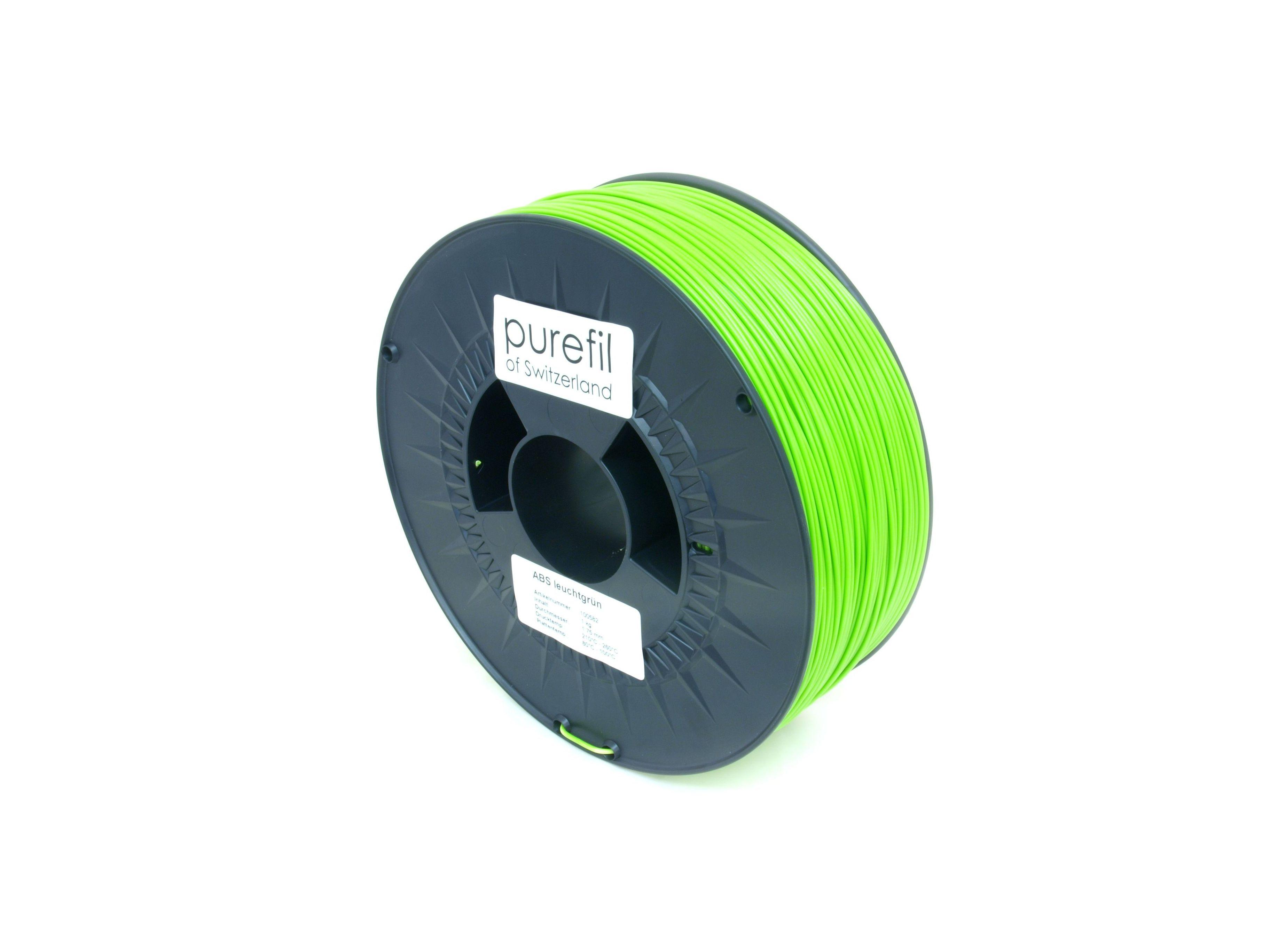 PLA Filament Purefil PLA Leuchtgrün 1Kg 1.75mm