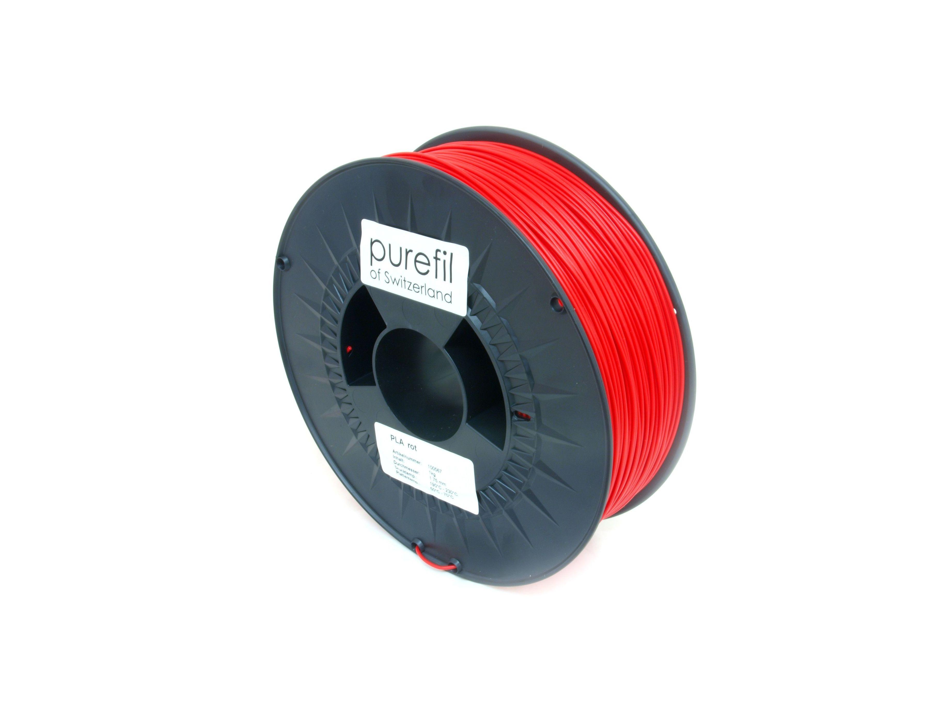 PLA Filament Purefil PLA Rot 1Kg 1.75mm