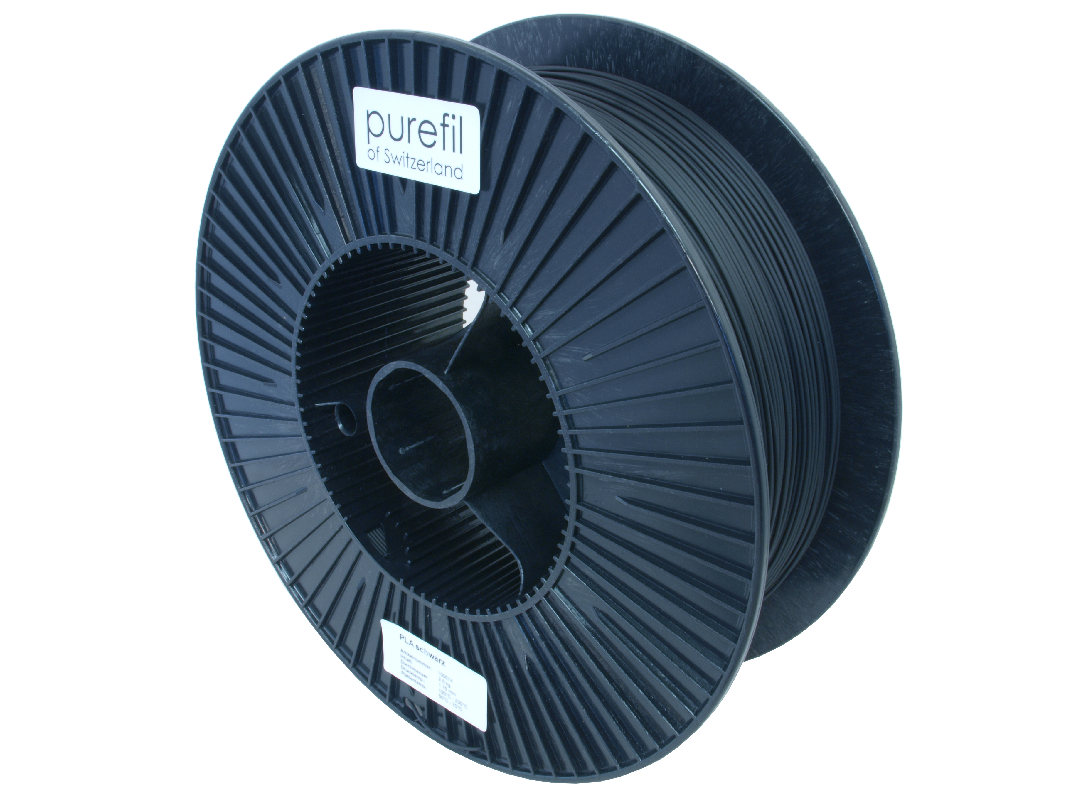 PLA Filament Purefil PLA Schwarz 2.5Kg 1.75mm